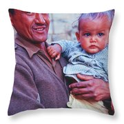 Soldier And Baby Throw Pillow