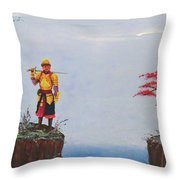 Soldier By Gorge Throw Pillow