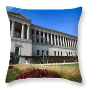 Soldier Field Chicago Bears Stadium Throw Pillow by Paul Velgos