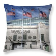 Soldier Field Throw Pillow
