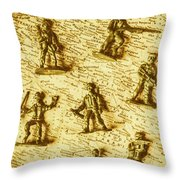 Soldiers And Battle Maps Throw Pillow