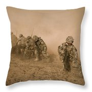 Soldiers In The Dust 2 Throw Pillow