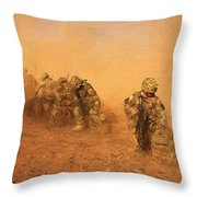 Soldiers In The Dust 4 Throw Pillow