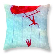 Soldiers In The Sky Throw Pillow