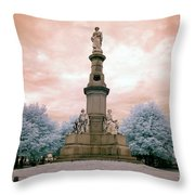 Soldier's Monument Throw Pillow