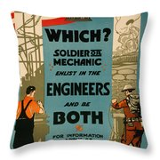 Soldiers Or Mechanic Throw Pillow