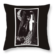 Solemn Vigil Throw Pillow