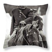 Solider On Horseback Throw Pillow
