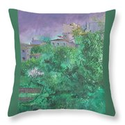 Solitary Almond Tree In Blossom Mallorcan Valley Throw Pillow