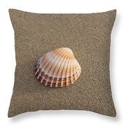 Solitary Cockle Shell Throw Pillow
