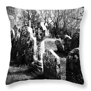 Solitary Cross At Fuerty Cemetery Roscommon Irenand Throw Pillow