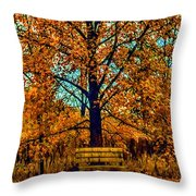 Solitary Fall Throw Pillow