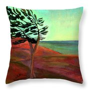 Solitary Pine Throw Pillow