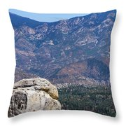 Solitary Pine On Promontory Throw Pillow
