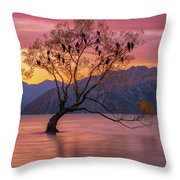 Solitary Willow Tree Throw Pillow