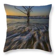 Solitude At Botany Bay Throw Pillow