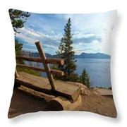 Solitude At Crater Lake Throw Pillow