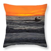 Solitude But Not Alone Throw Pillow