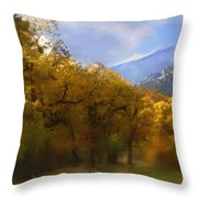Solitude In Gold Throw Pillow