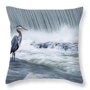 Solitude In Stormy Waters Throw Pillow