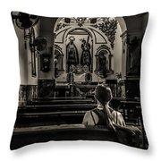 Solitude In Village Church Throw Pillow