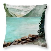Solitude Of The Lake Throw Pillow