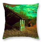 Solitude On The Backroads In Neon Throw Pillow