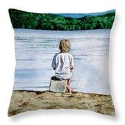 Solitude Upon The Lake Throw Pillow