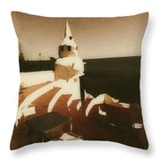 Solo En La Terraza Throw Pillow