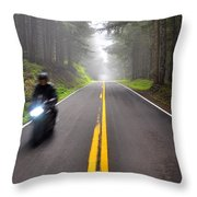 Solo Road Throw Pillow
