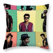 Solo Singer Throw Pillow