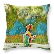 Solo Splash Throw Pillow