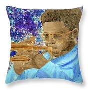 Solo Trumpet Throw Pillow