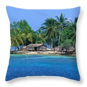 Soloman Islands Throw Pillow
