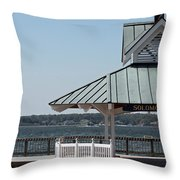 Solomons Island - Welcome Throw Pillow