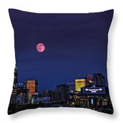 Solstice Strawberry Moon Charlotte, Nc Throw Pillow