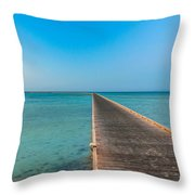 Soma Bay Sea Scape Sunrise Mood Throw Pillow by Julis Simo