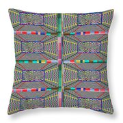 Some Color 11 Throw Pillow