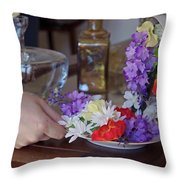 Some Floral Tea? Throw Pillow