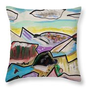 Some Gold In The Hills Throw Pillow
