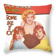 Some Like It Hot Throw Pillow by Georgia Fowler