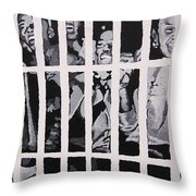 Some Of The 210 Demonstrators Jailed Wave From Their Cell 1964 Throw Pillow