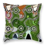 Some Pink And Green Abstract Throw Pillow