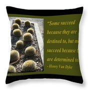 Some Succeed Because They Are Destined To Throw Pillow