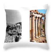 Some Things Don't Change  - A Photo I Took In 1972 Vs One I Took In 2007 Throw Pillow