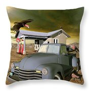 Some Things Just Refuse To Die Throw Pillow