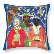 Some Wise Men Dem Throw Pillow