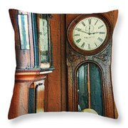 Somebodys Grandfathers Clocks Throw Pillow