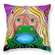 Somebody's Prince Throw Pillow