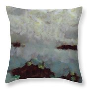 Someone Behind The Clouds Throw Pillow